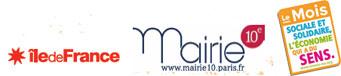 Nos partenaires : La région Ile de France, La mairie du 10ème, Le mois de l'ESS